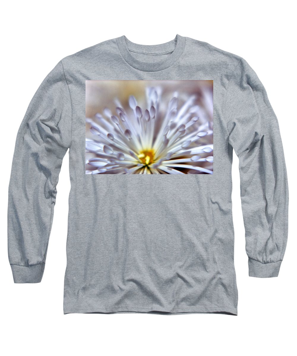 Macro Long Sleeve T-Shirt featuring the photograph Macro Flower 3 by Lee Santa
