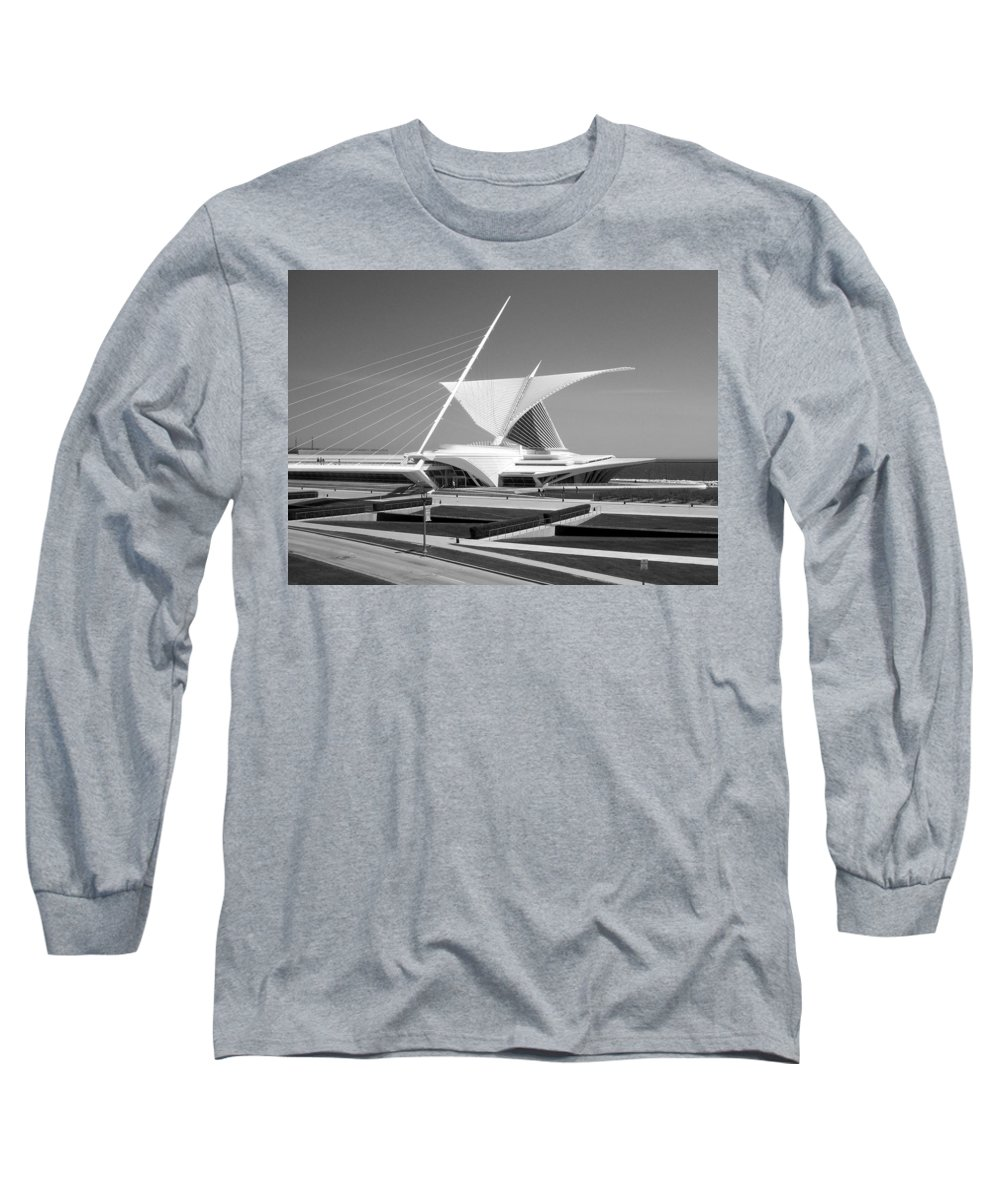 Mam Long Sleeve T-Shirt featuring the photograph Mam In Bw by Anita Burgermeister