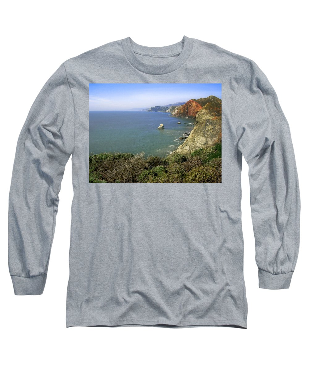 Ocean Long Sleeve T-Shirt featuring the photograph Marin Headlands 1 by Karen W Meyer