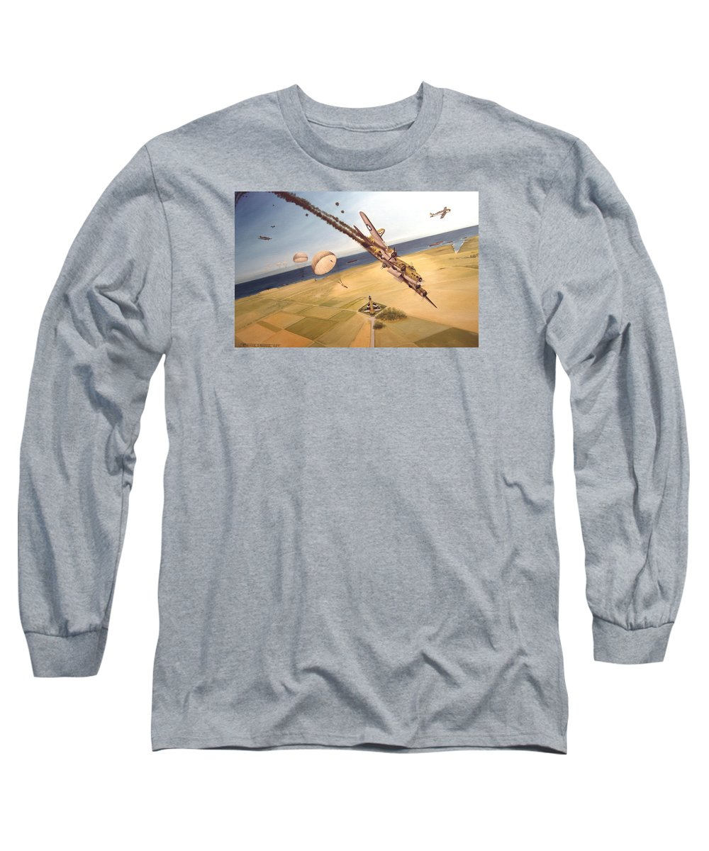 Aviation Long Sleeve T-Shirt featuring the painting Mehitabel by Marc Stewart
