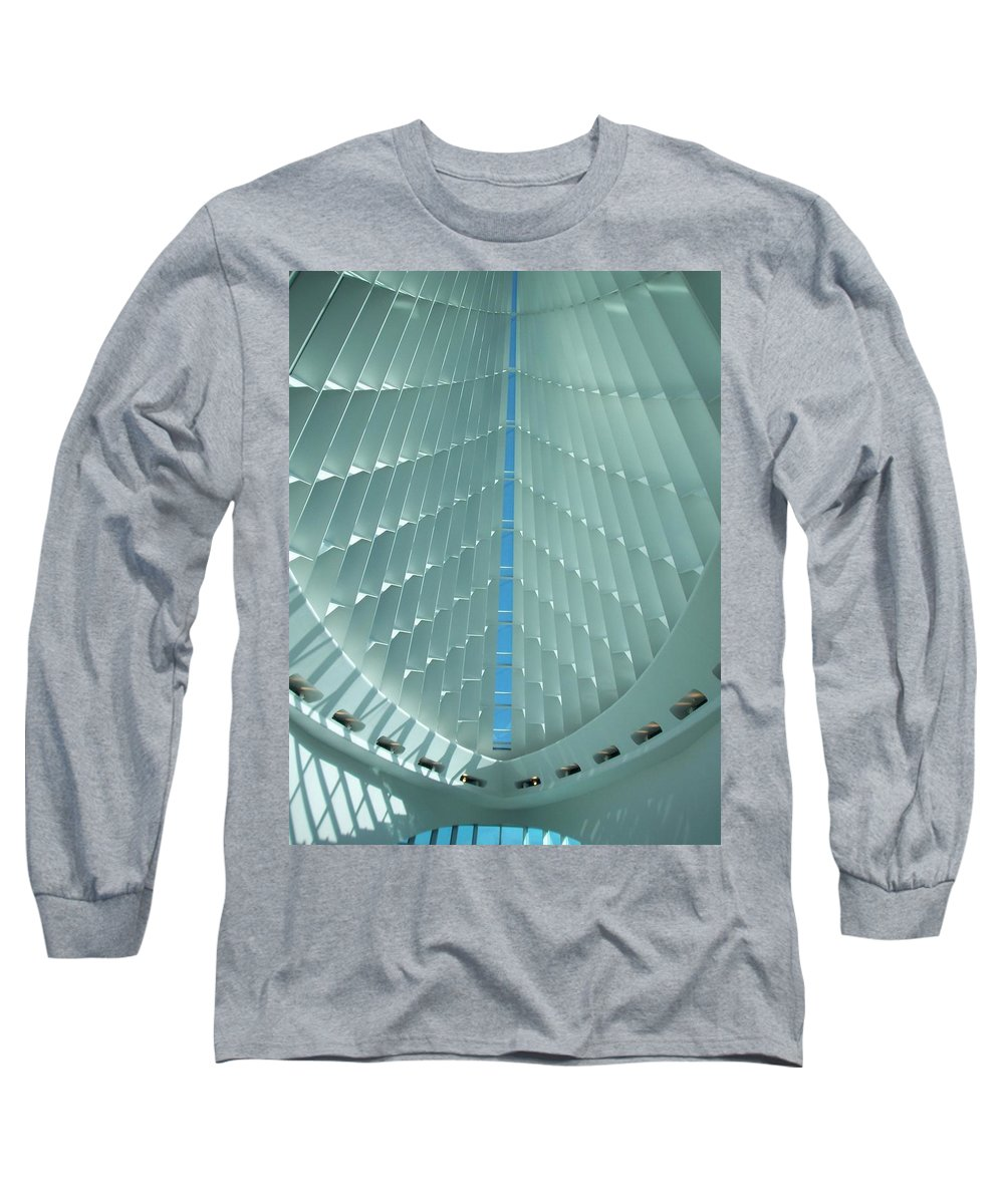 Mam Long Sleeve T-Shirt featuring the photograph Milwaukee Art Museum Interior by Anita Burgermeister