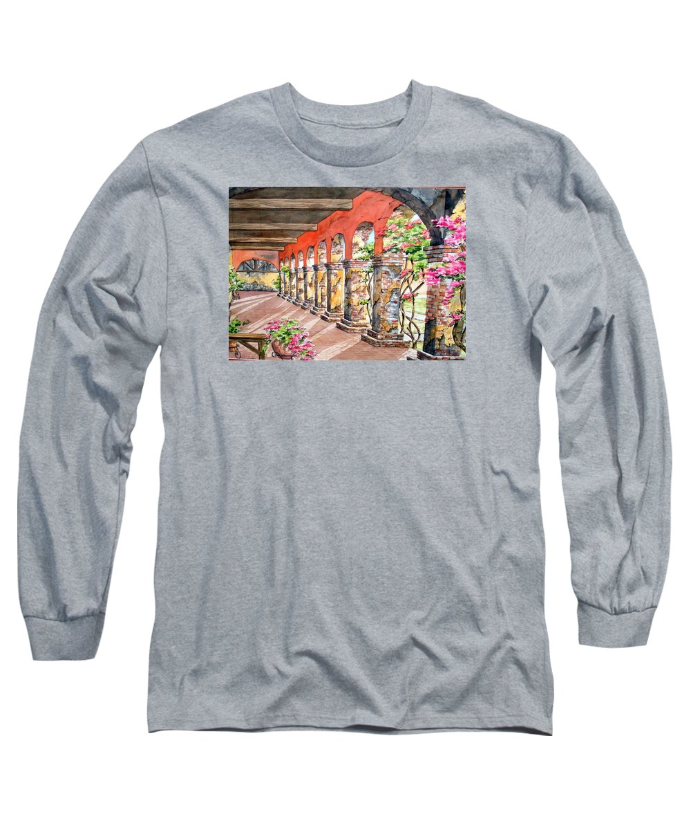 Landscape Long Sleeve T-Shirt featuring the painting Monasterio by Tatiana Escobar