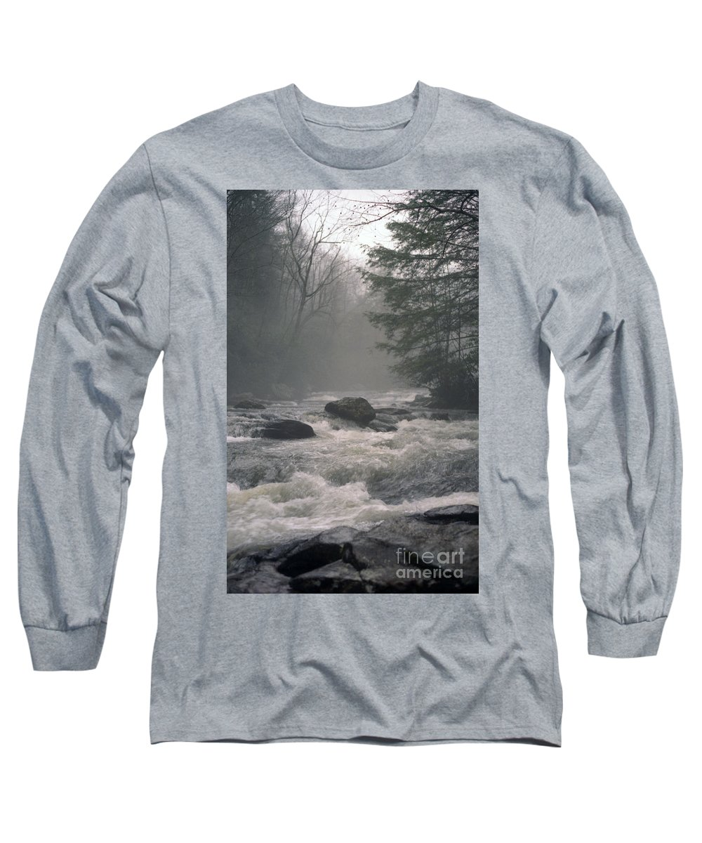 Rivers Long Sleeve T-Shirt featuring the photograph Morning At The River by Richard Rizzo