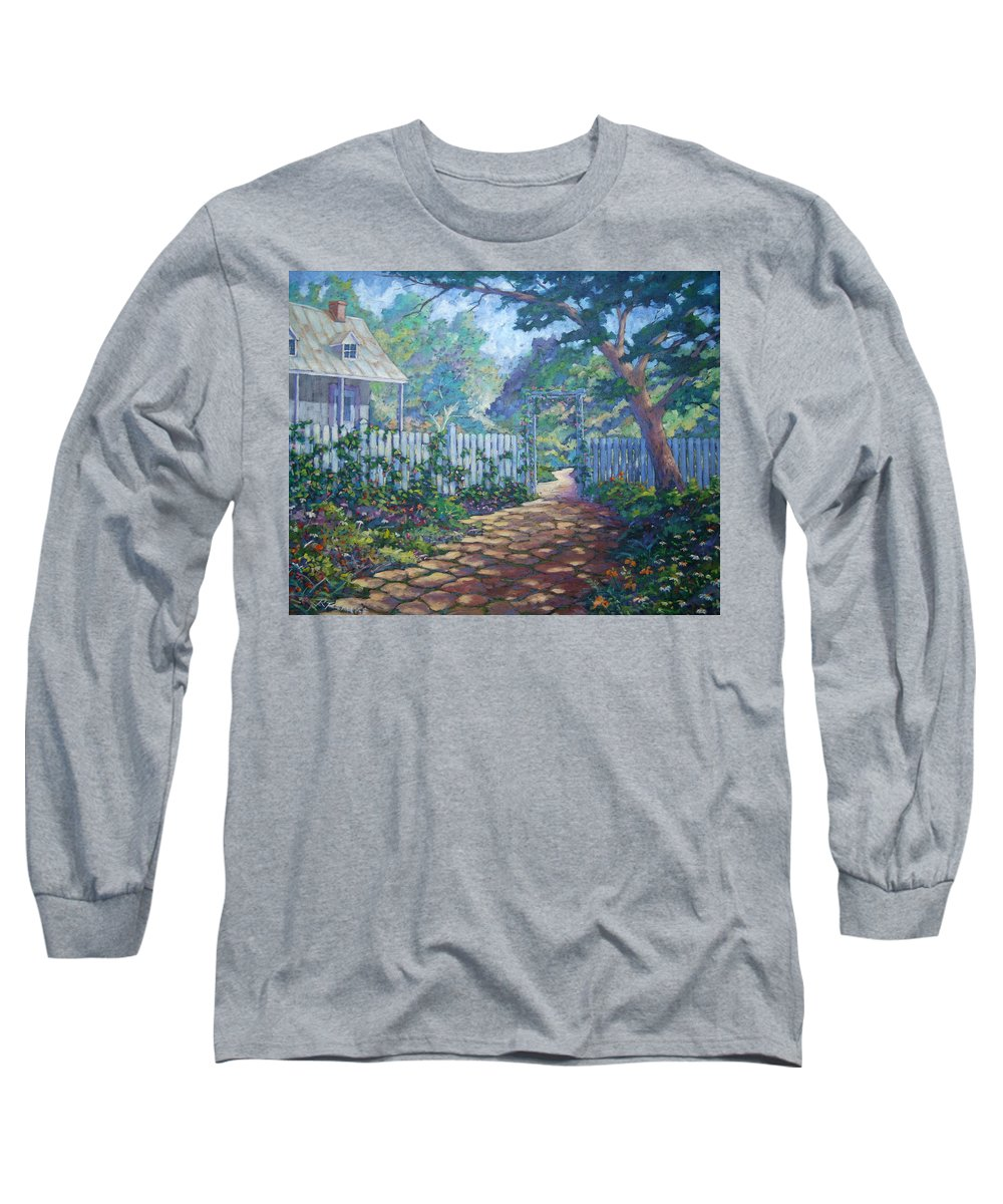 Painter Art Long Sleeve T-Shirt featuring the painting Morning Glory by Richard T Pranke