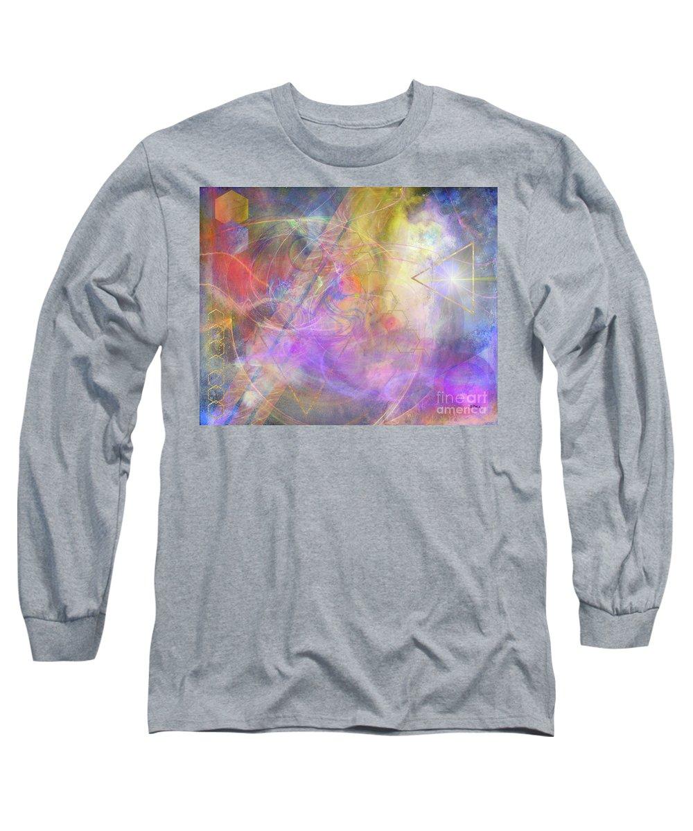 Morning Star Long Sleeve T-Shirt featuring the digital art Morning Star by John Beck