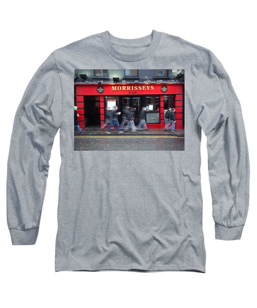 Pub Long Sleeve T-Shirt featuring the photograph Morrissey by Tim Nyberg
