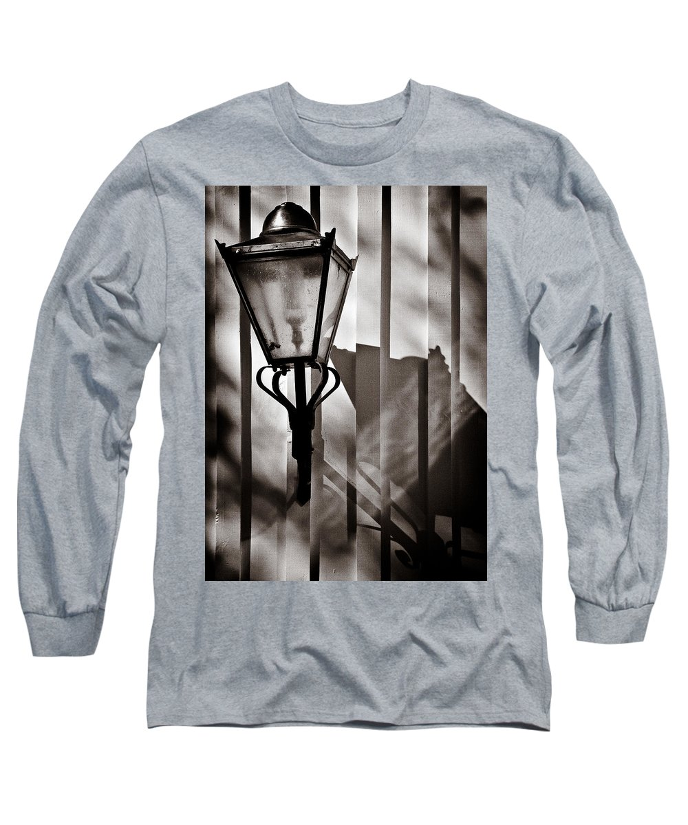 Moth Long Sleeve T-Shirt featuring the photograph Moth And Lamp by Dave Bowman
