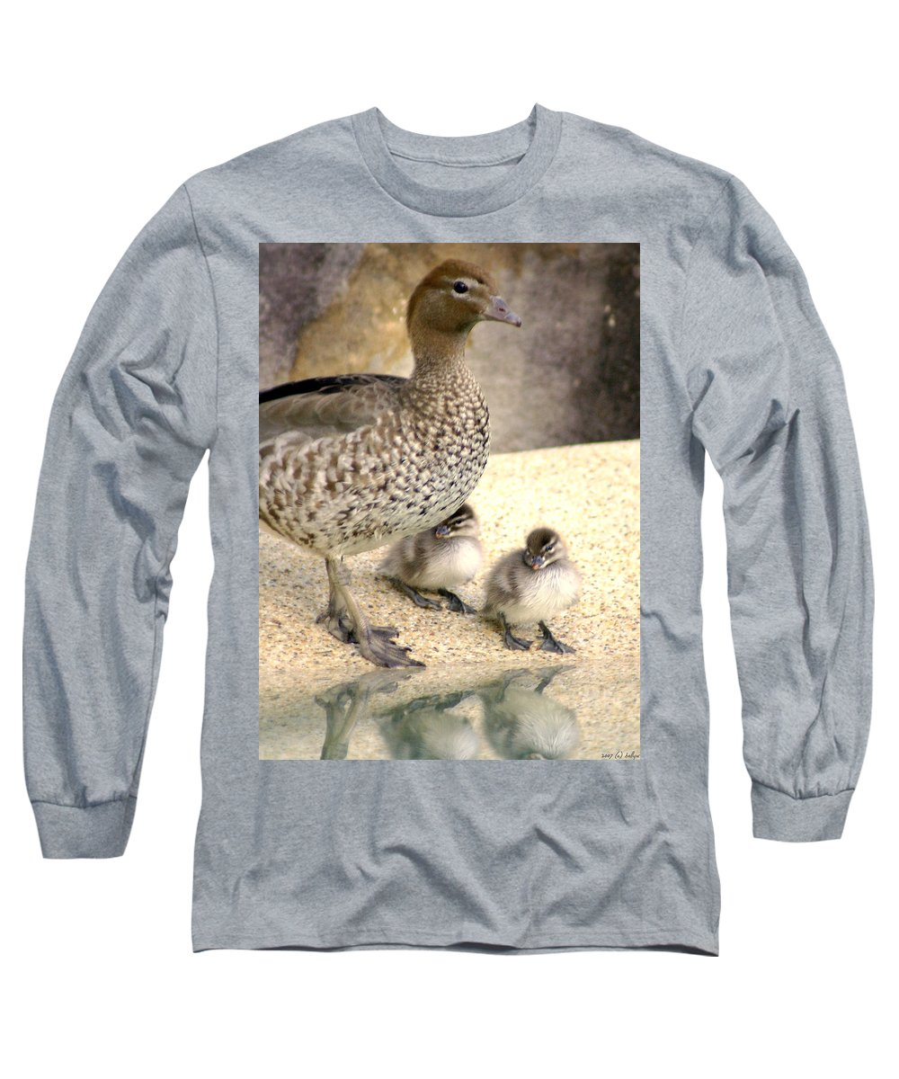 Animals Long Sleeve T-Shirt featuring the photograph Mother Of Twins by Holly Kempe