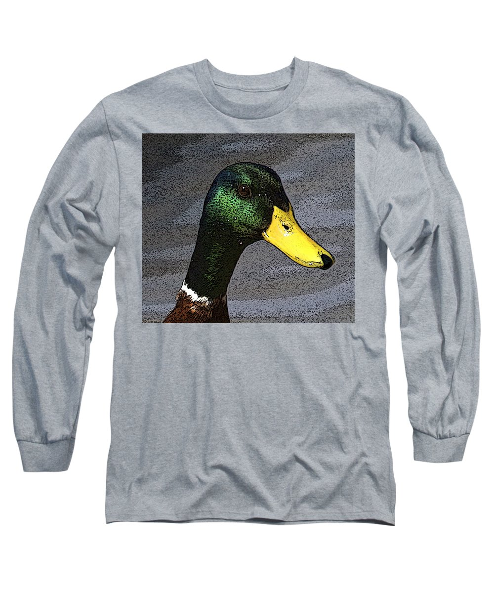 Duck Long Sleeve T-Shirt featuring the photograph My Close Up by Robert Pearson