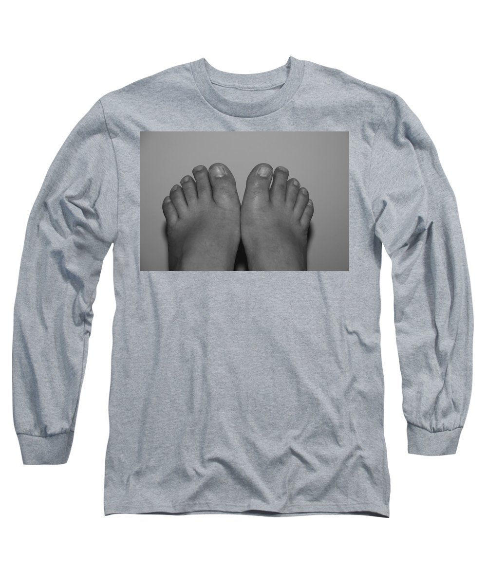Pop Art Long Sleeve T-Shirt featuring the photograph My Feet By Hans by Rob Hans