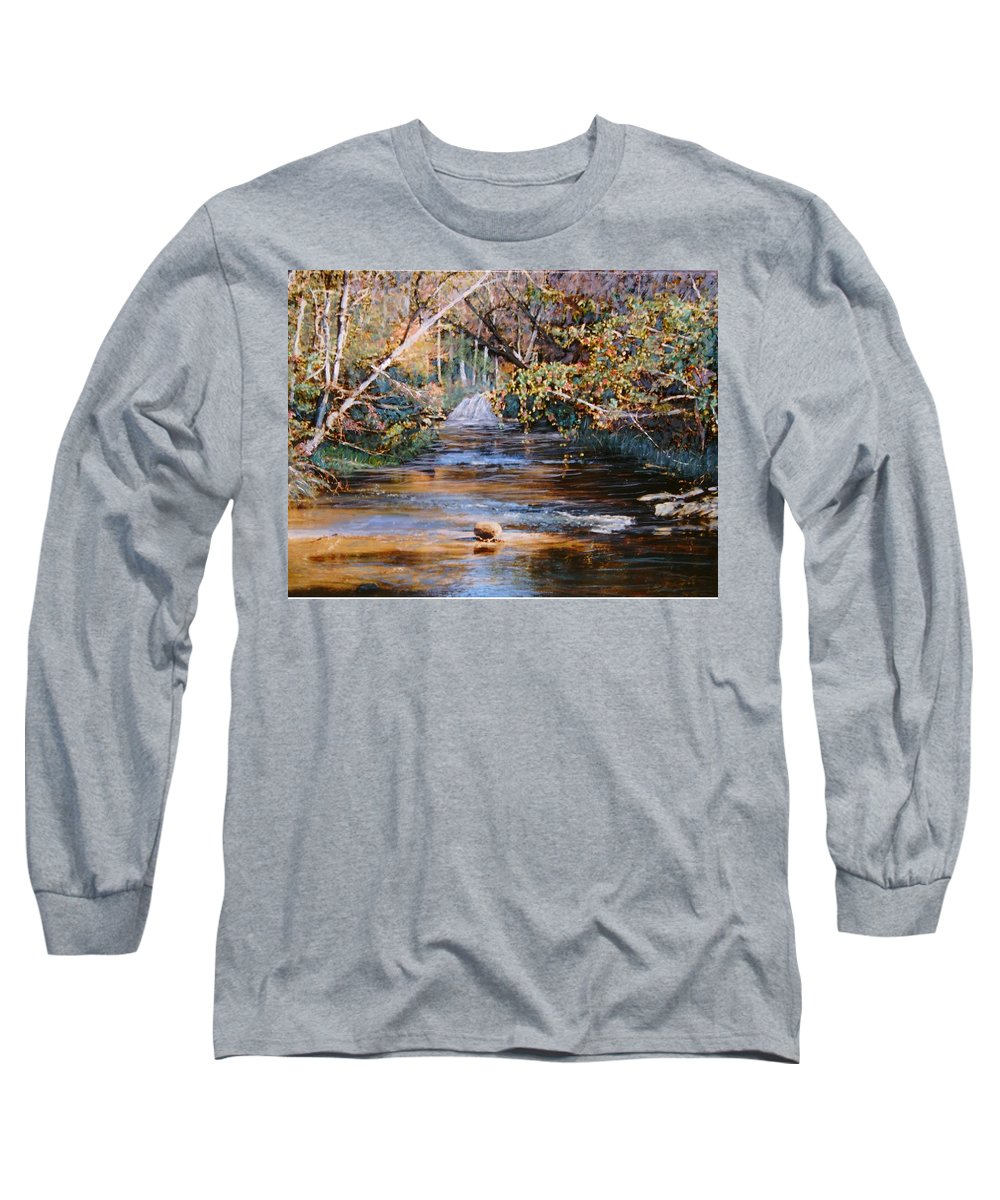 Peace Project Long Sleeve T-Shirt featuring the painting My Secret Place by Ben Kiger
