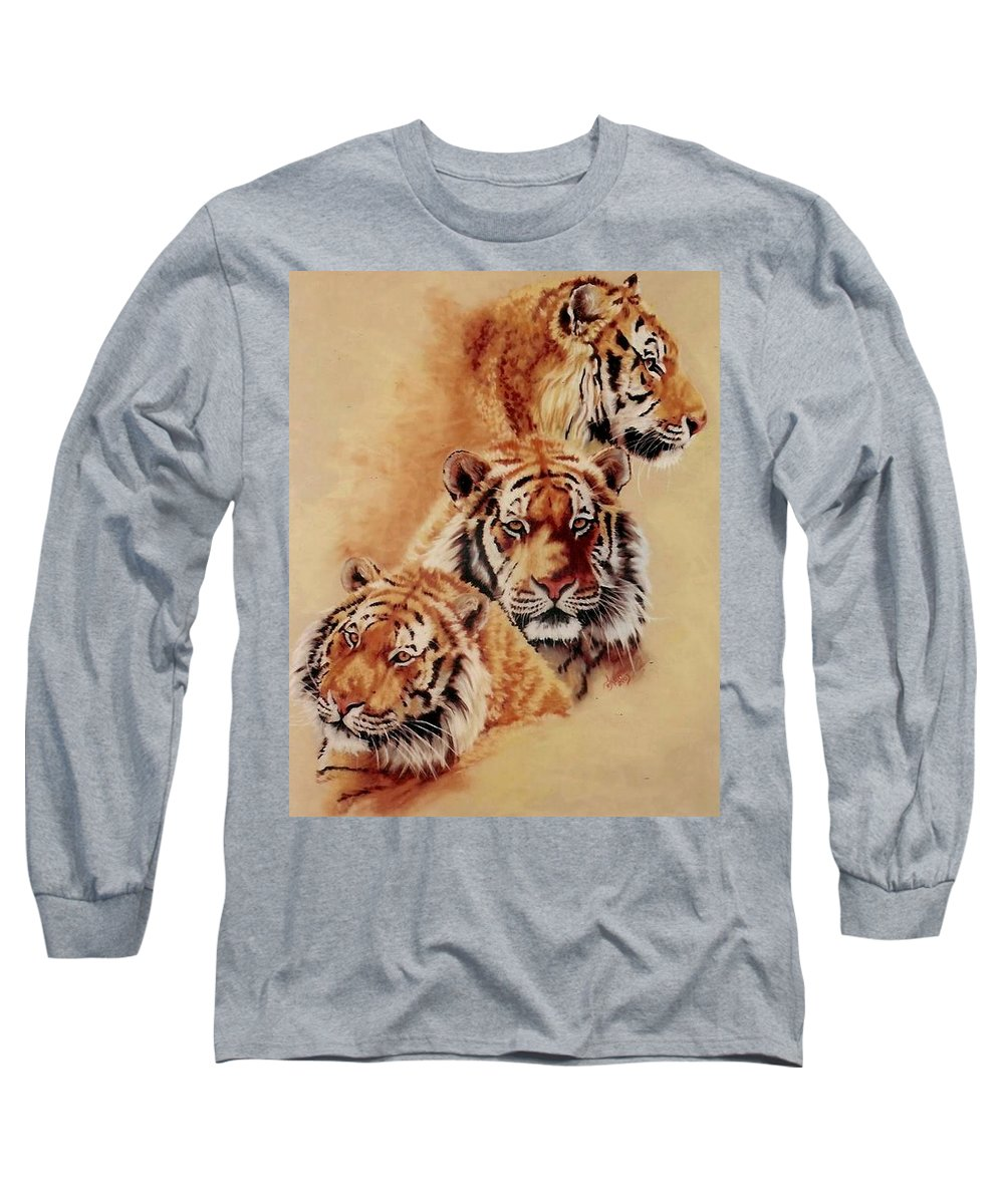 Tiger Long Sleeve T-Shirt featuring the pastel Nanook by Barbara Keith