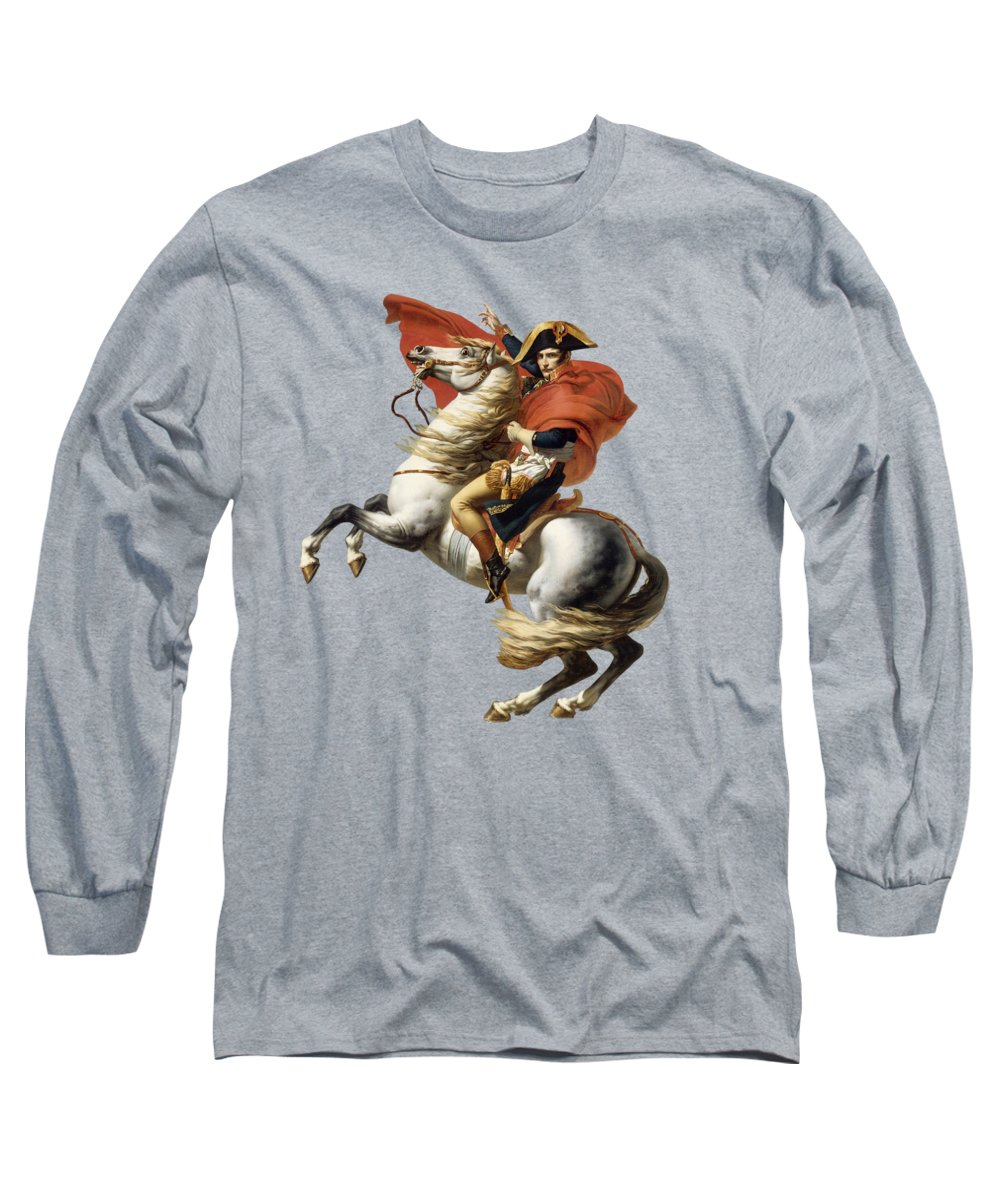 Napoleon Long Sleeve T-Shirt featuring the painting Napoleon Bonaparte On Horseback by War Is Hell Store