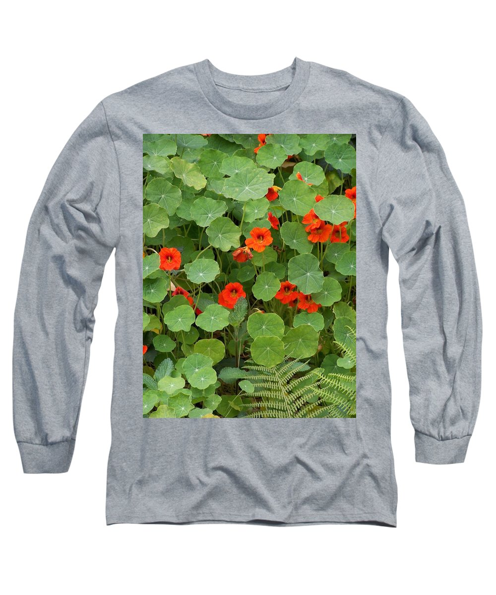 Nasturtiums Long Sleeve T-Shirt featuring the photograph Nasturtiums by Gale Cochran-Smith