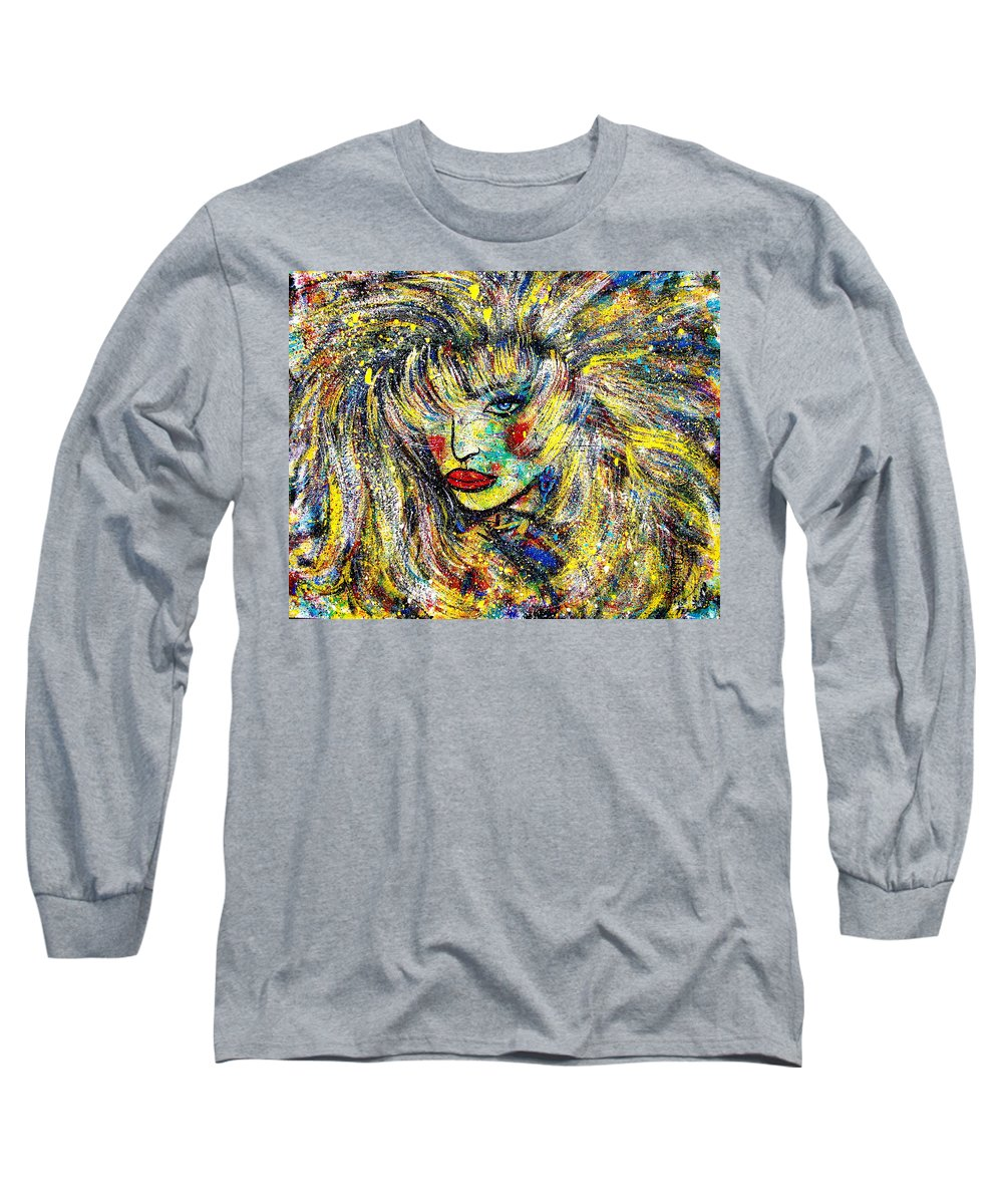 Portrait Long Sleeve T-Shirt featuring the painting Natalya by Natalie Holland