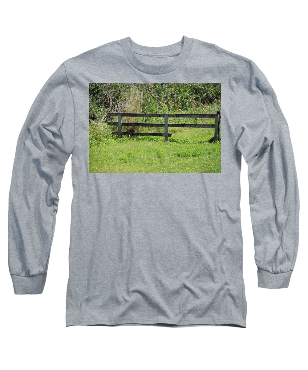 Fence Long Sleeve T-Shirt featuring the photograph Natures Fence by Rob Hans
