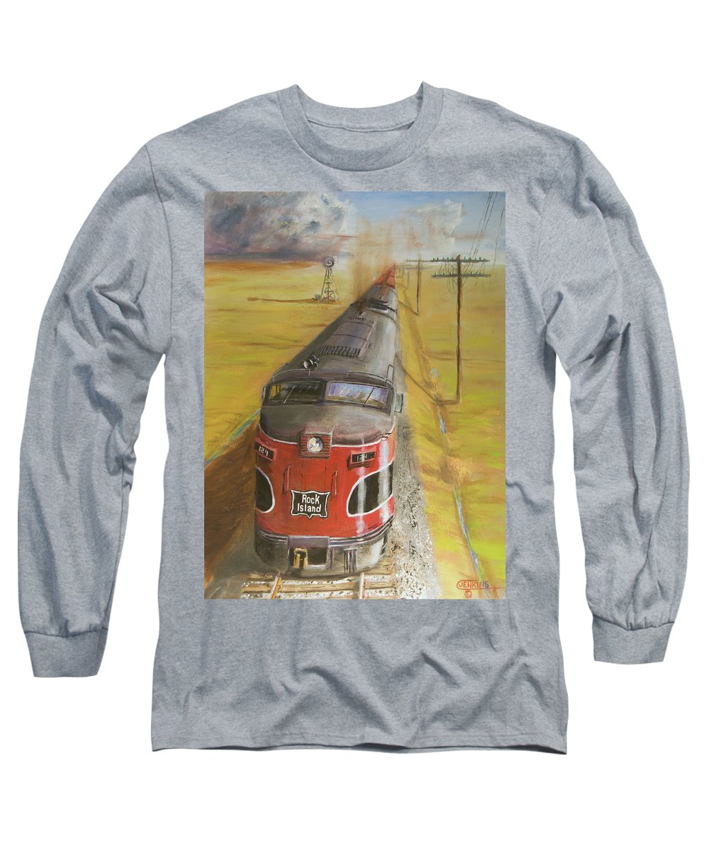 Train Long Sleeve T-Shirt featuring the painting Near Thistle Ks by Christopher Jenkins
