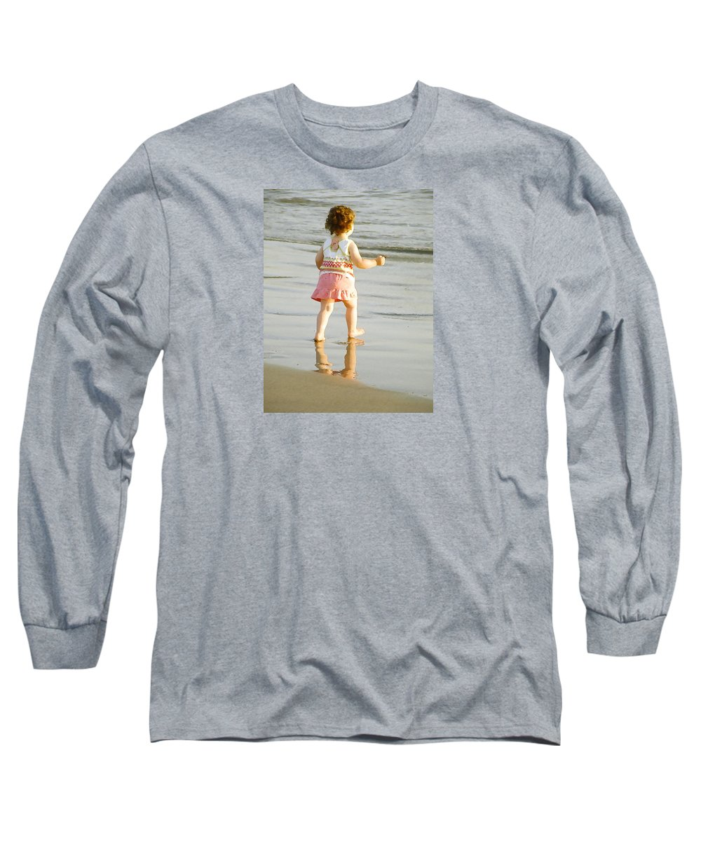 Beach Long Sleeve T-Shirt featuring the photograph No Fear by Margie Wildblood
