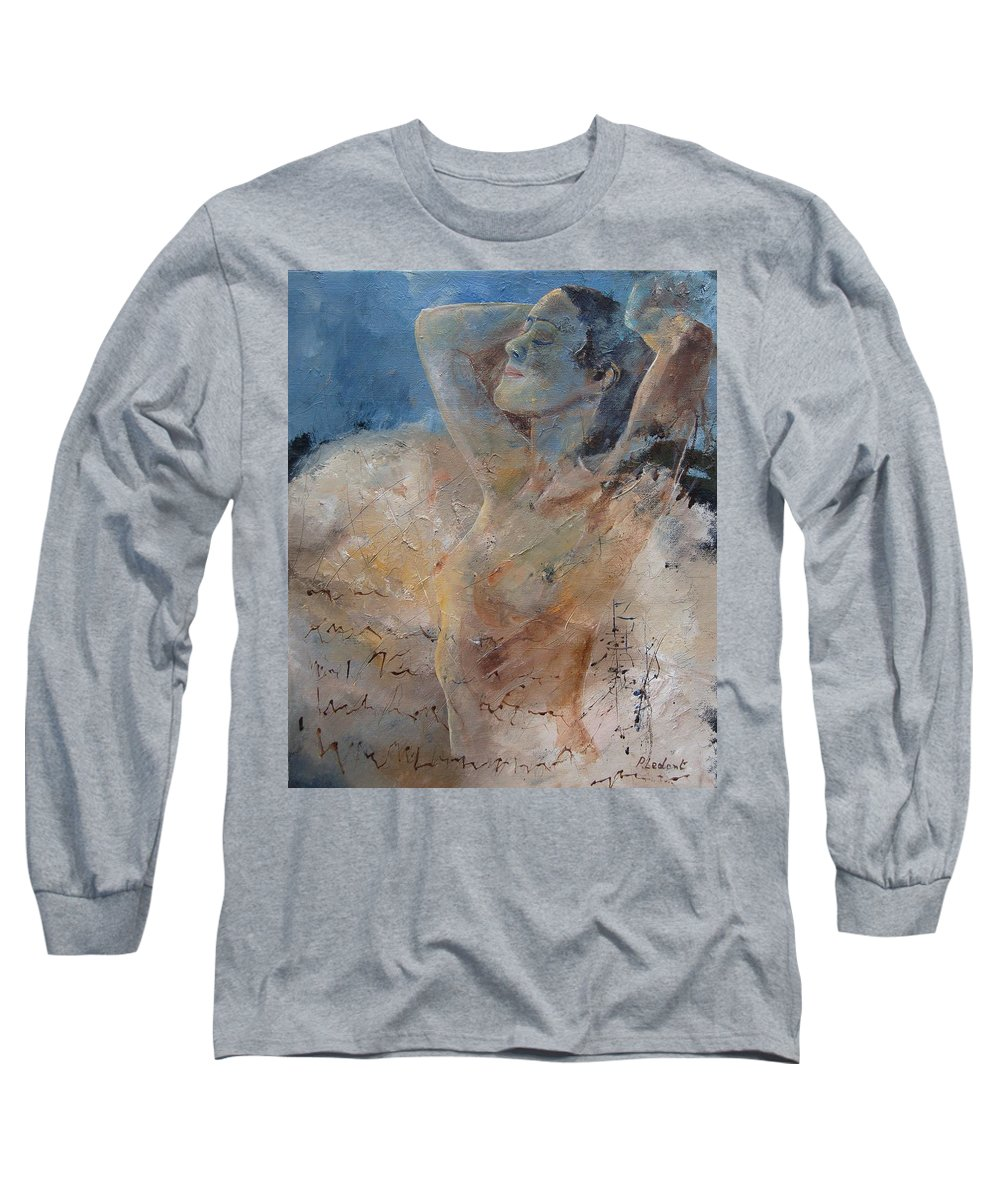 Nude Long Sleeve T-Shirt featuring the painting Nude 0508 by Pol Ledent