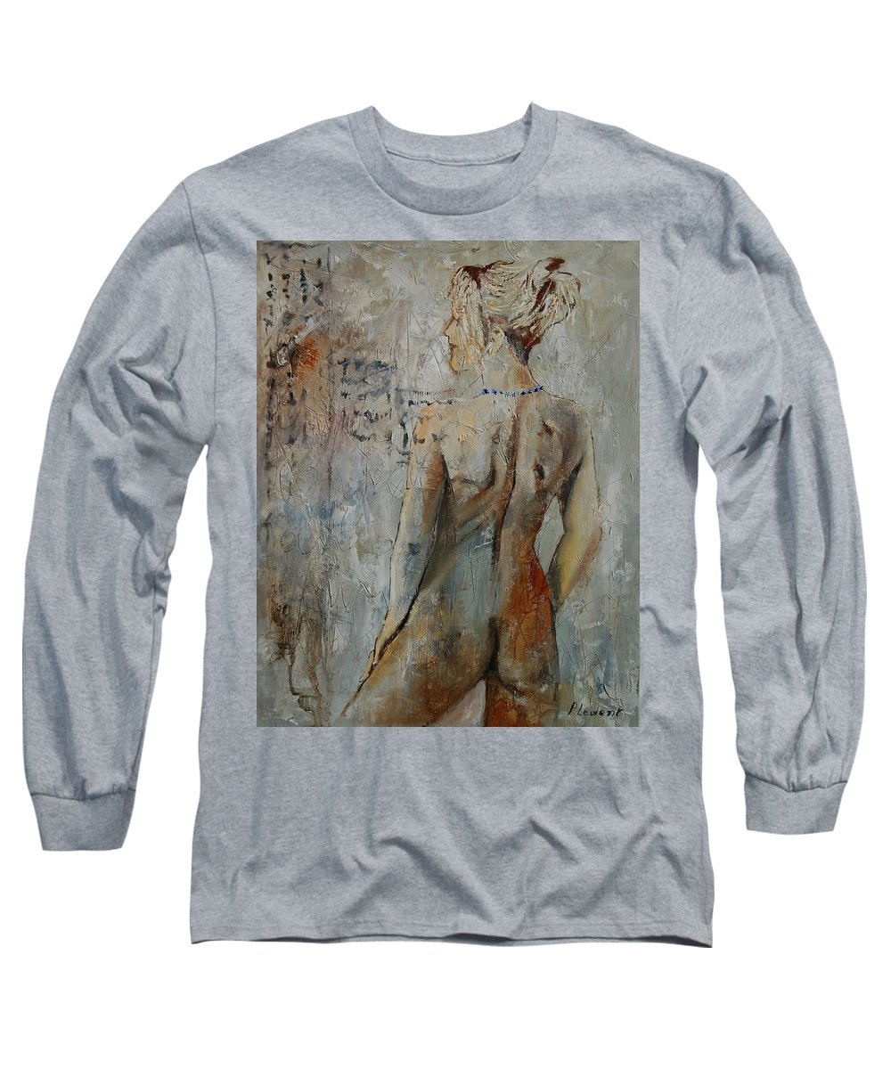 Girl Long Sleeve T-Shirt featuring the painting Nude 459020 by Pol Ledent