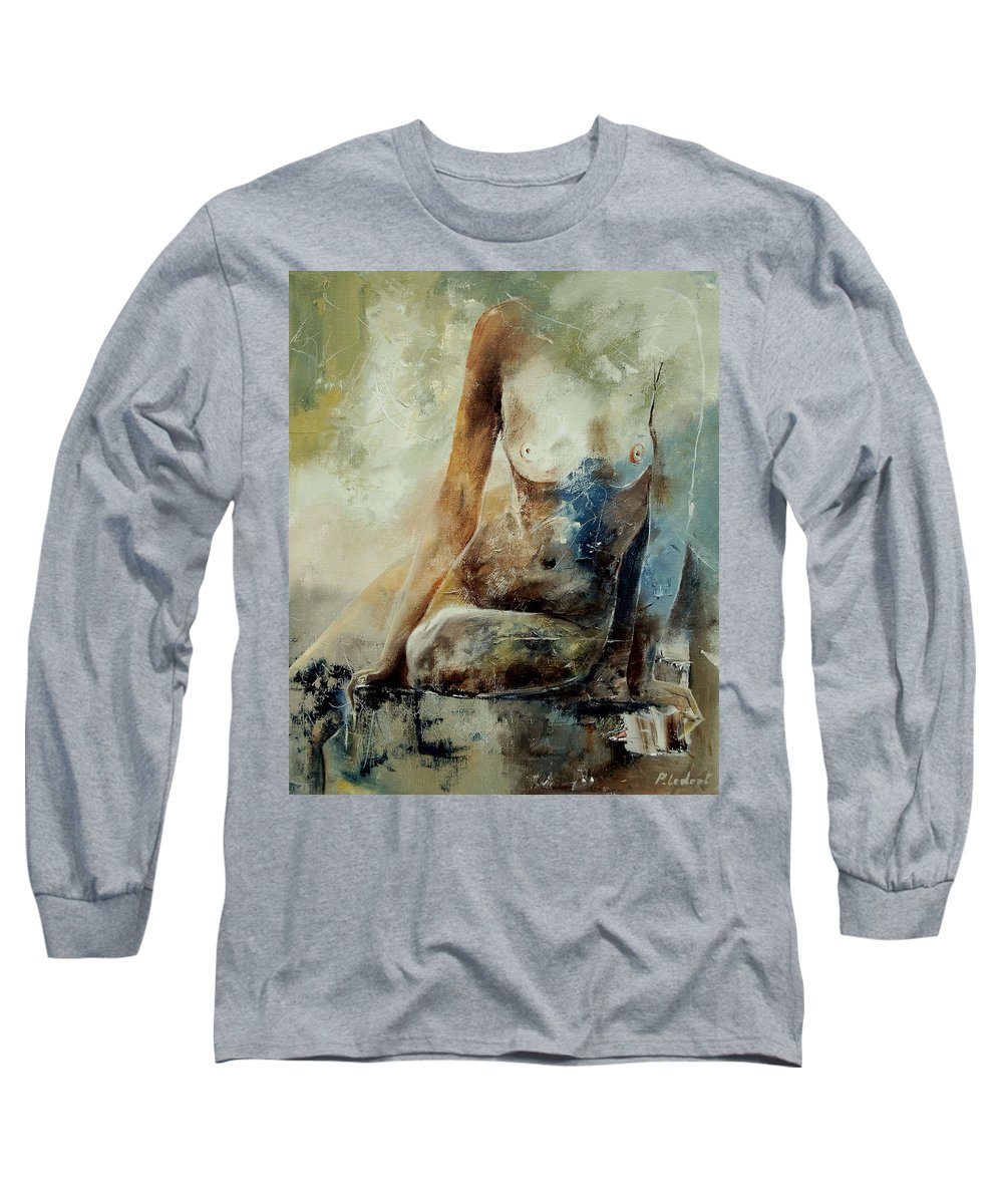Nude Long Sleeve T-Shirt featuring the painting Nude 560408 by Pol Ledent
