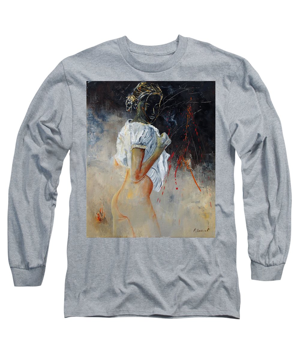 Nude Long Sleeve T-Shirt featuring the painting Nude 560508 by Pol Ledent