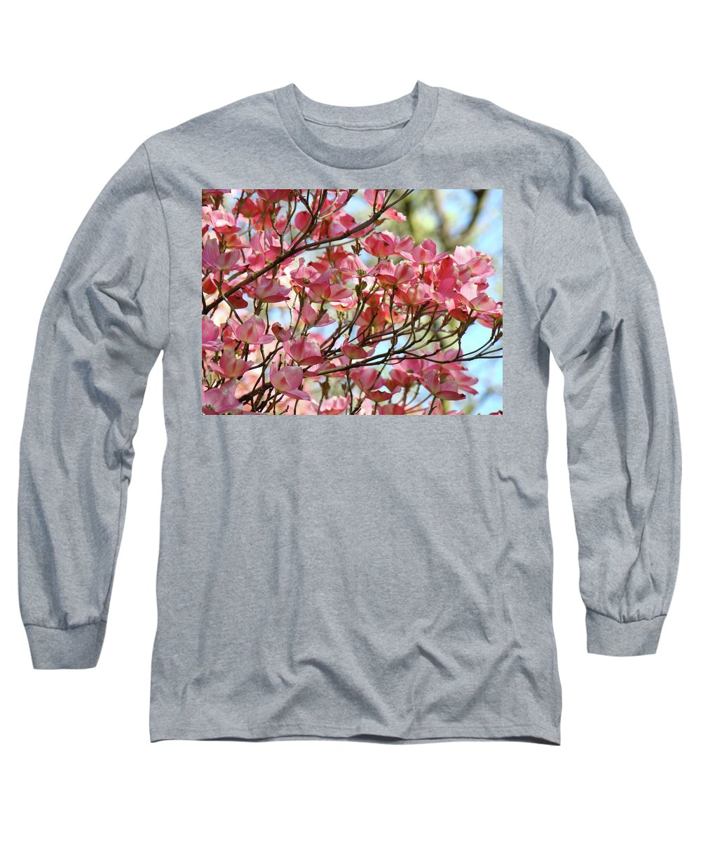 Dogwood Long Sleeve T-Shirt featuring the photograph Office Art Prints Pink Flowering Dogwood Trees 18 Giclee Prints Baslee Troutman by Baslee Troutman