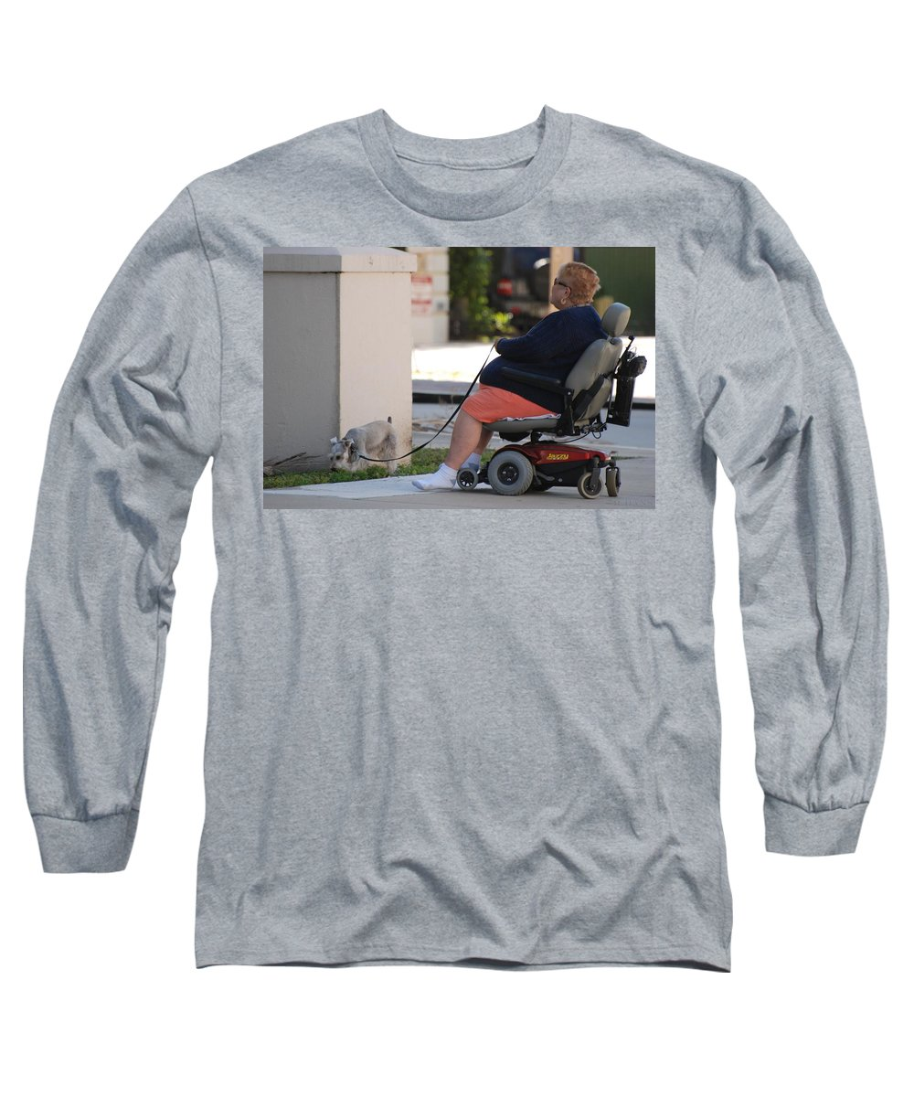 Women Long Sleeve T-Shirt featuring the photograph Old Barefoot Women by Rob Hans
