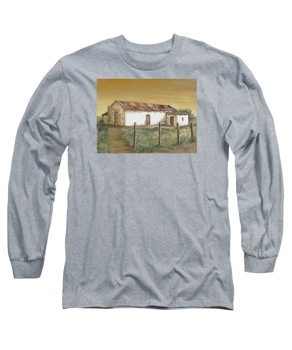 Old House Landscape Country Long Sleeve T-Shirt featuring the painting Old House by Natalia Tejera
