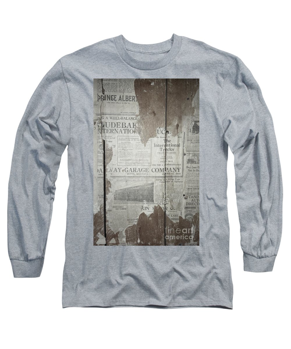 Newspapers Long Sleeve T-Shirt featuring the photograph Old News by Richard Rizzo