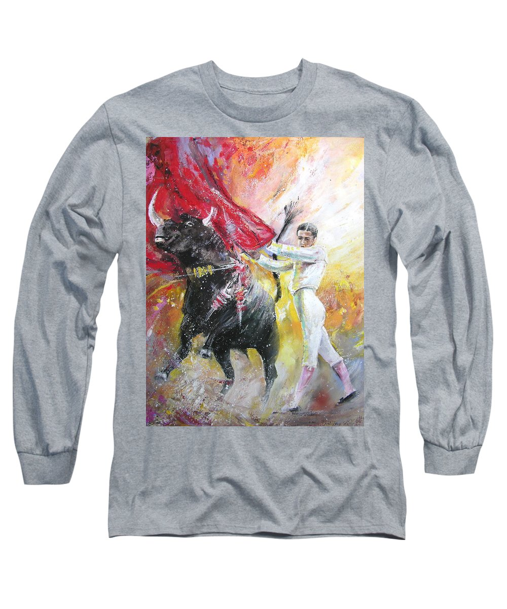 Animals Long Sleeve T-Shirt featuring the painting Ole by Miki De Goodaboom