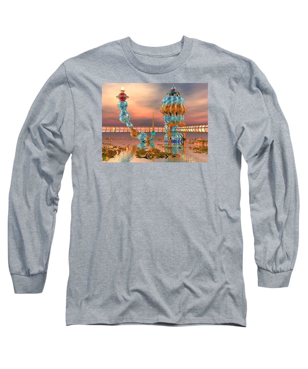 Landscape Long Sleeve T-Shirt featuring the digital art On Vacation by Dave Martsolf