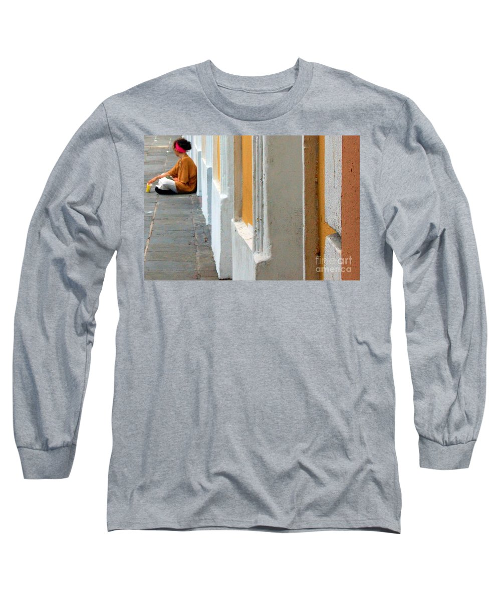 Sidewalk Long Sleeve T-Shirt featuring the photograph One Is The Loneliest Number by Debbi Granruth