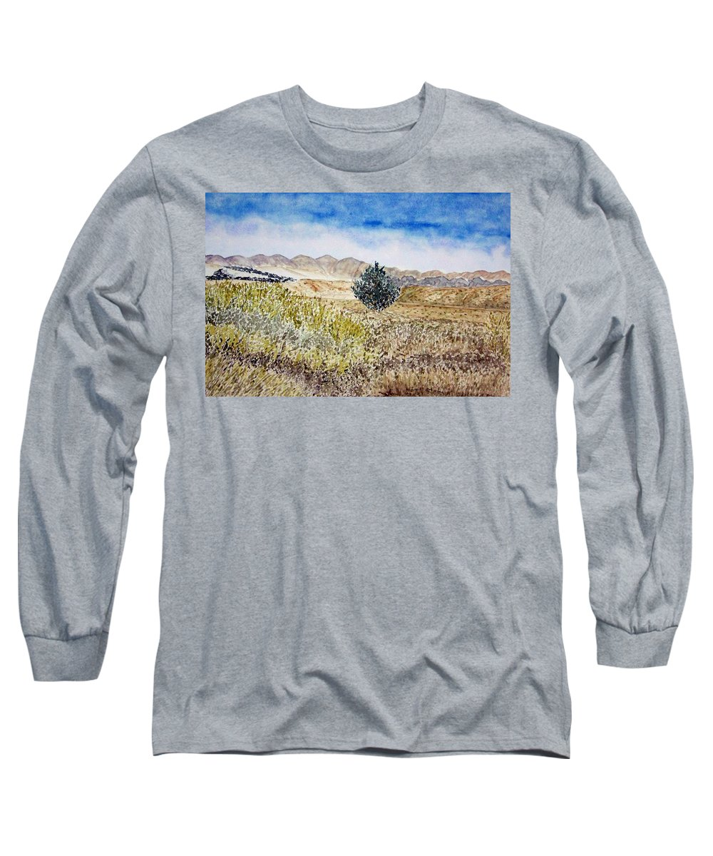 Desert Art Long Sleeve T-Shirt featuring the painting Onyo National Forest by Larry Wright