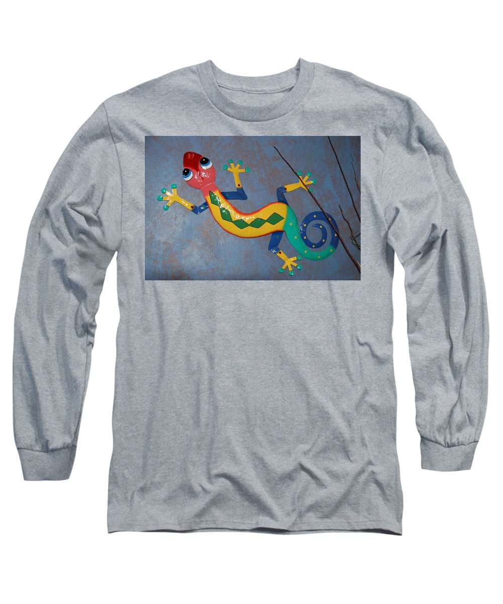 Pop Art Long Sleeve T-Shirt featuring the photograph Painted Lizard by Rob Hans
