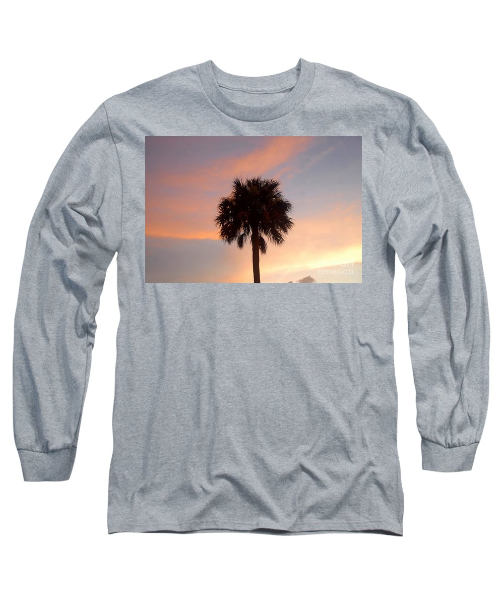 Palm Tree Long Sleeve T-Shirt featuring the photograph Palm Sky by David Lee Thompson