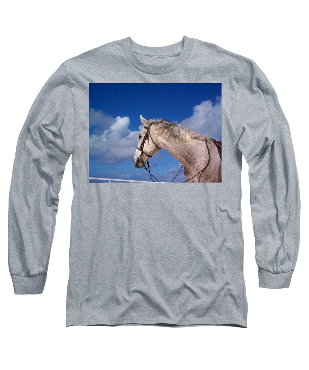 Charity Long Sleeve T-Shirt featuring the photograph Pancho by Mary-Lee Sanders