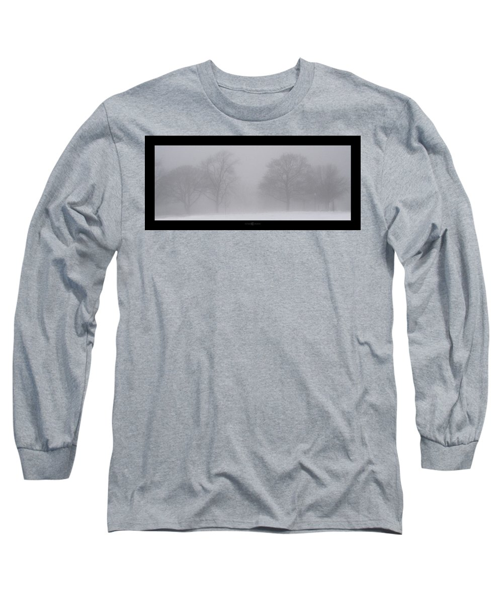 Fog Long Sleeve T-Shirt featuring the photograph Park In Winter Fog by Tim Nyberg