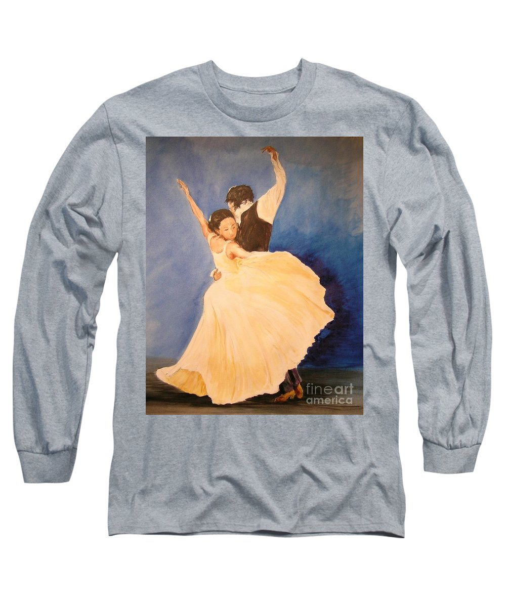 Spain Long Sleeve T-Shirt featuring the painting Pasion Gitana by Lizzy Forrester