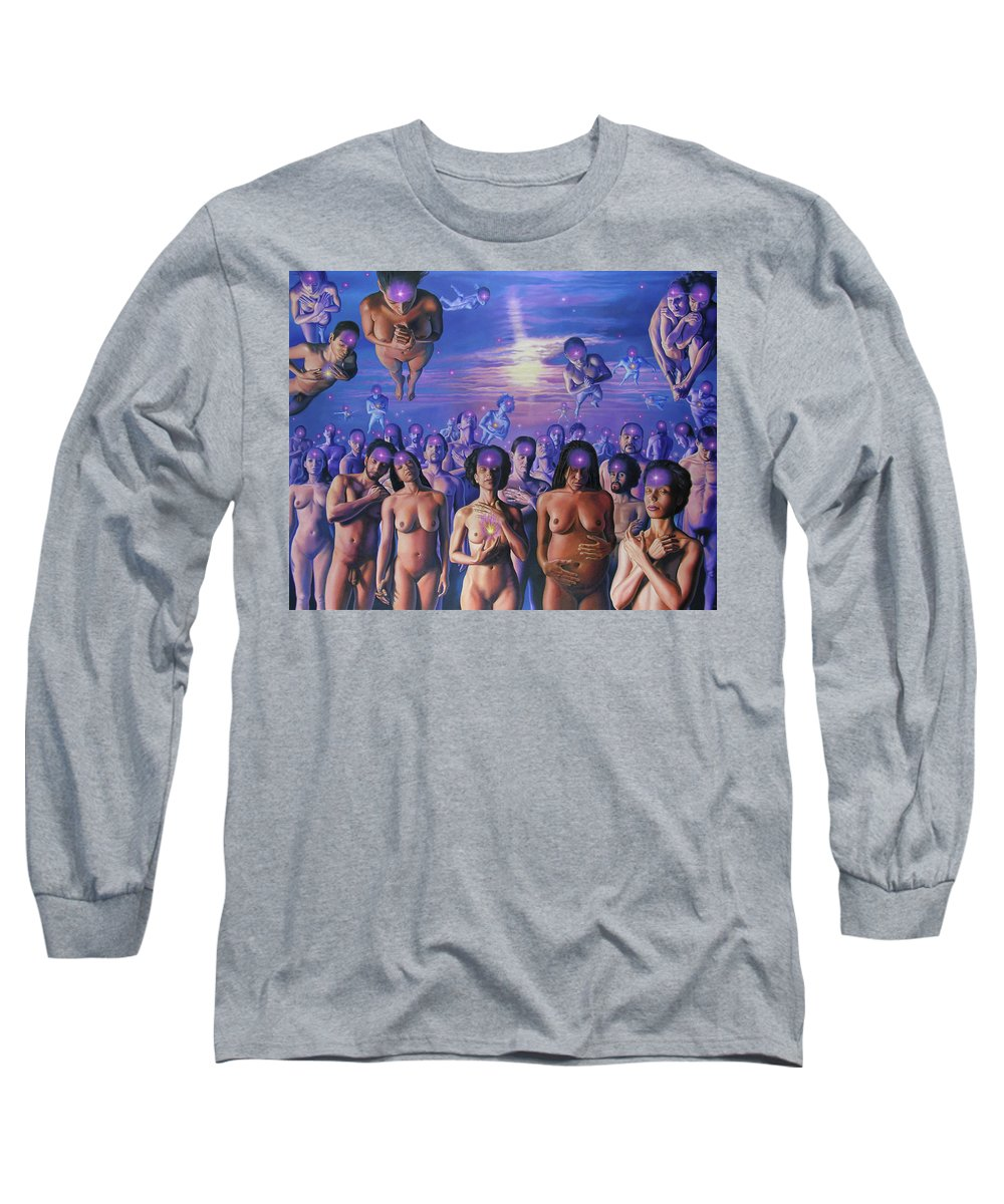 Peace Long Sleeve T-Shirt featuring the painting Peace...peace...peace by Miguel Tio