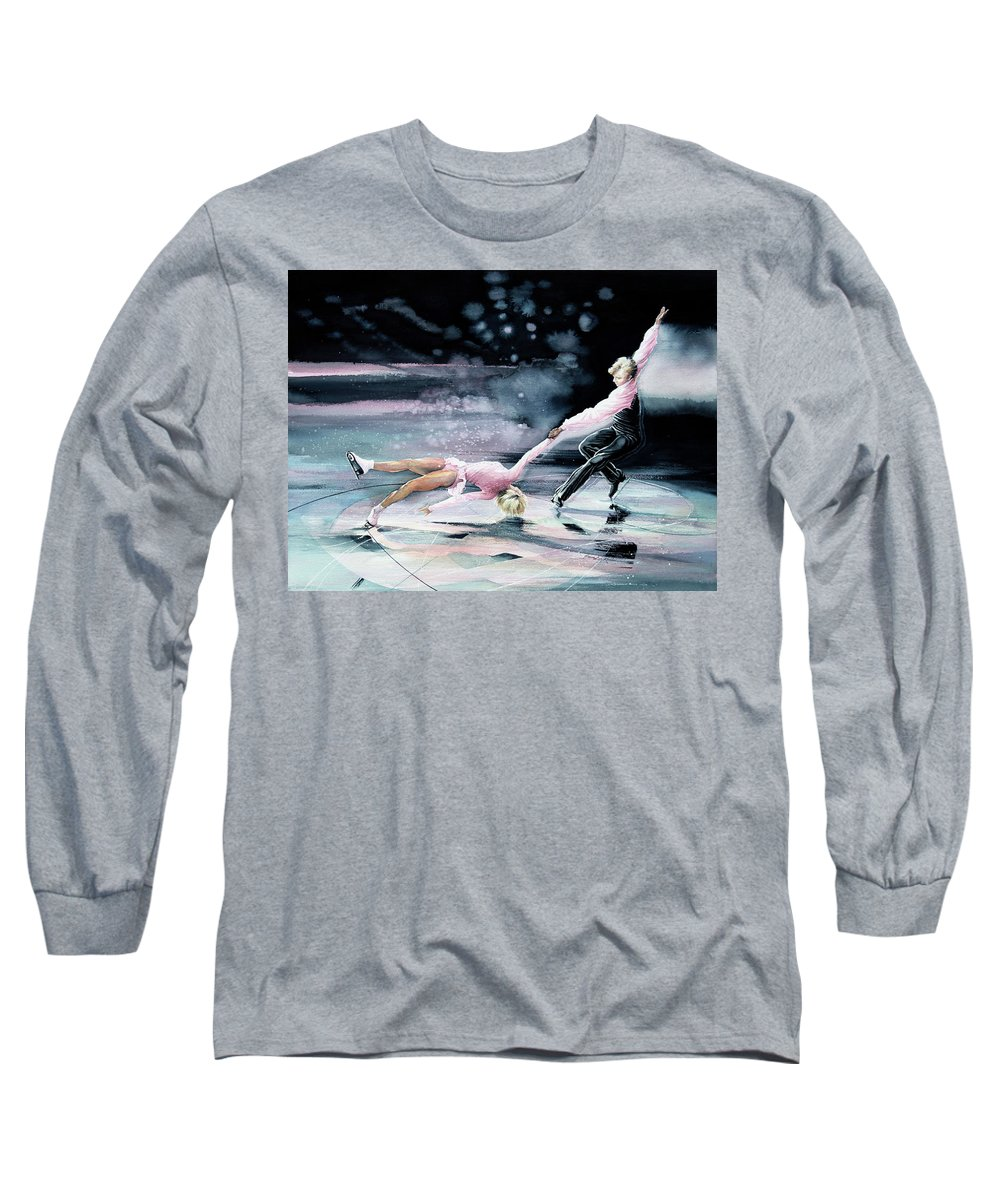 Olympic Figure Skating Paintings Long Sleeve T-Shirts