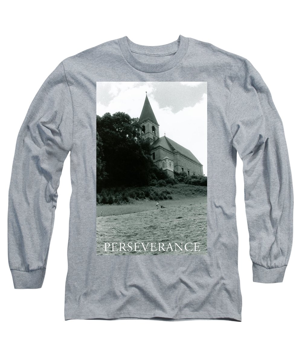 Church Long Sleeve T-Shirt featuring the photograph Perseverance by Michelle Calkins
