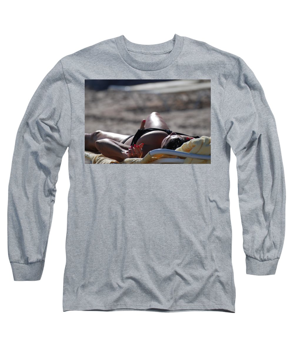 Sexy Long Sleeve T-Shirt featuring the photograph Pink Nails by Rob Hans