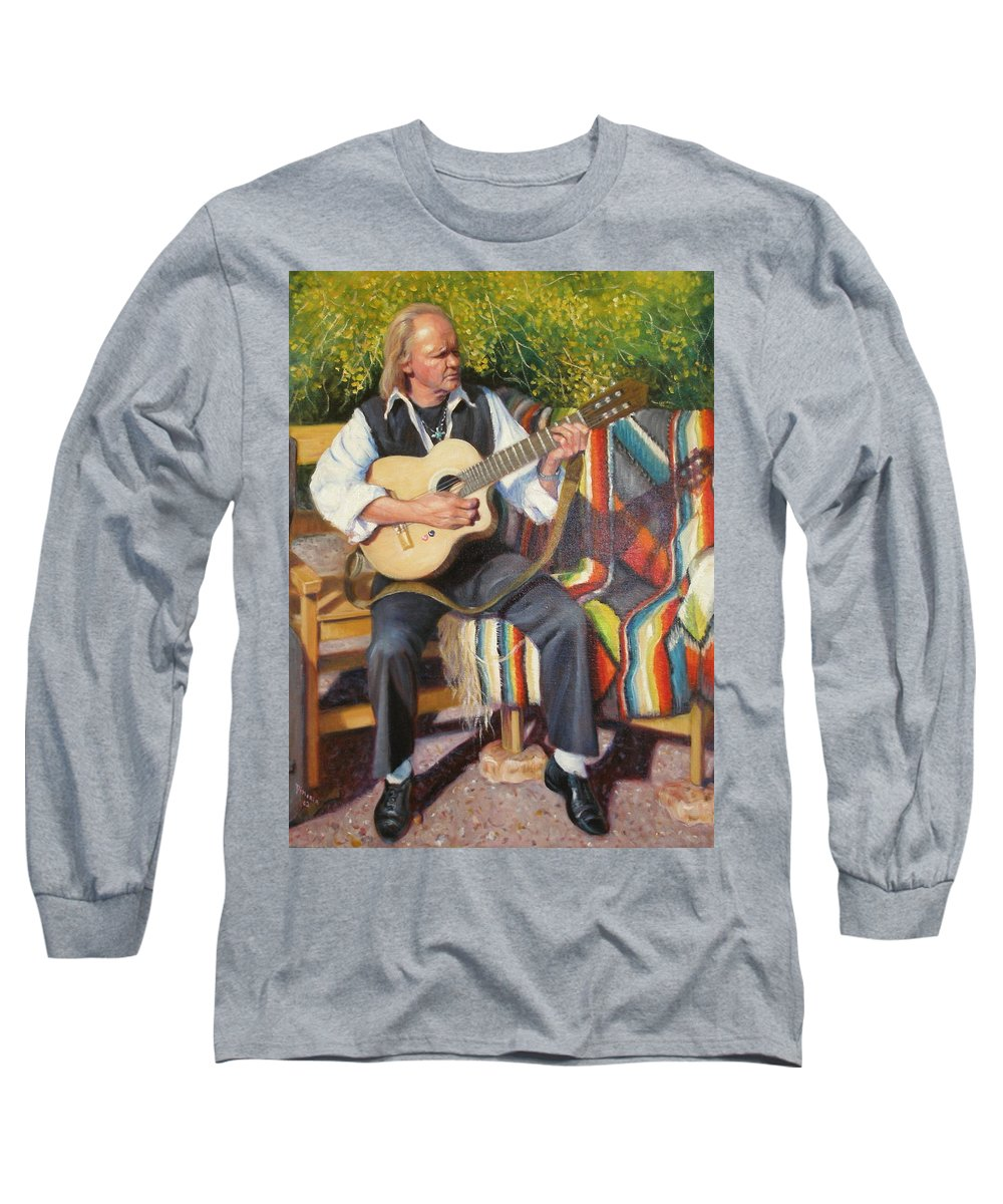 Realism Long Sleeve T-Shirt featuring the painting Por Tu Amor by Donelli DiMaria