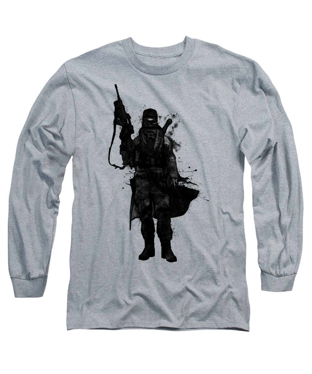 Warrior Long Sleeve T-Shirt featuring the digital art Post Apocalyptic Warrior by Nicklas Gustafsson