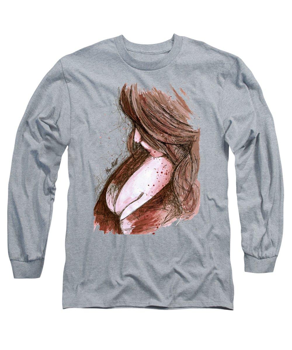 Naked Woman Long Sleeve T-Shirts
