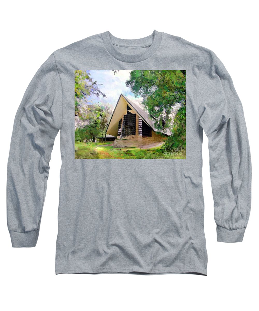 Praying Hands Long Sleeve T-Shirt featuring the digital art Praying Hands by John Beck