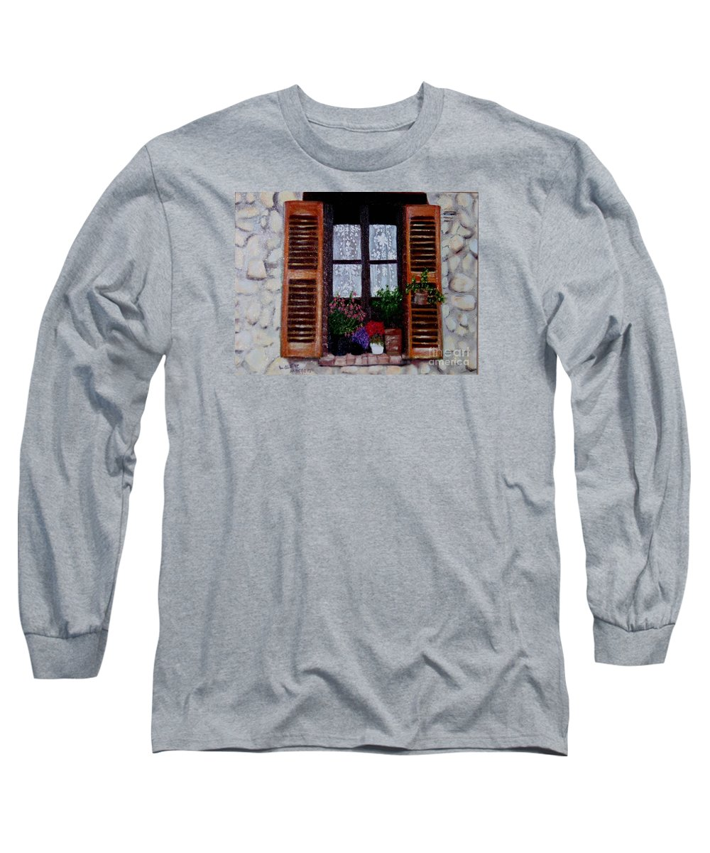 Provence Long Sleeve T-Shirt featuring the painting Provence Morning by Laurie Morgan