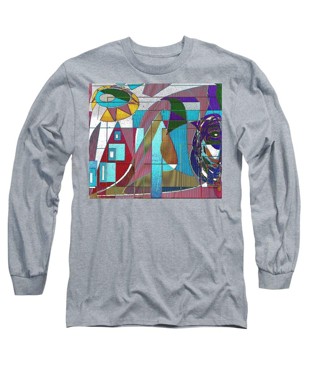 Purple Long Sleeve T-Shirt featuring the digital art Purple And Blue by Ian MacDonald