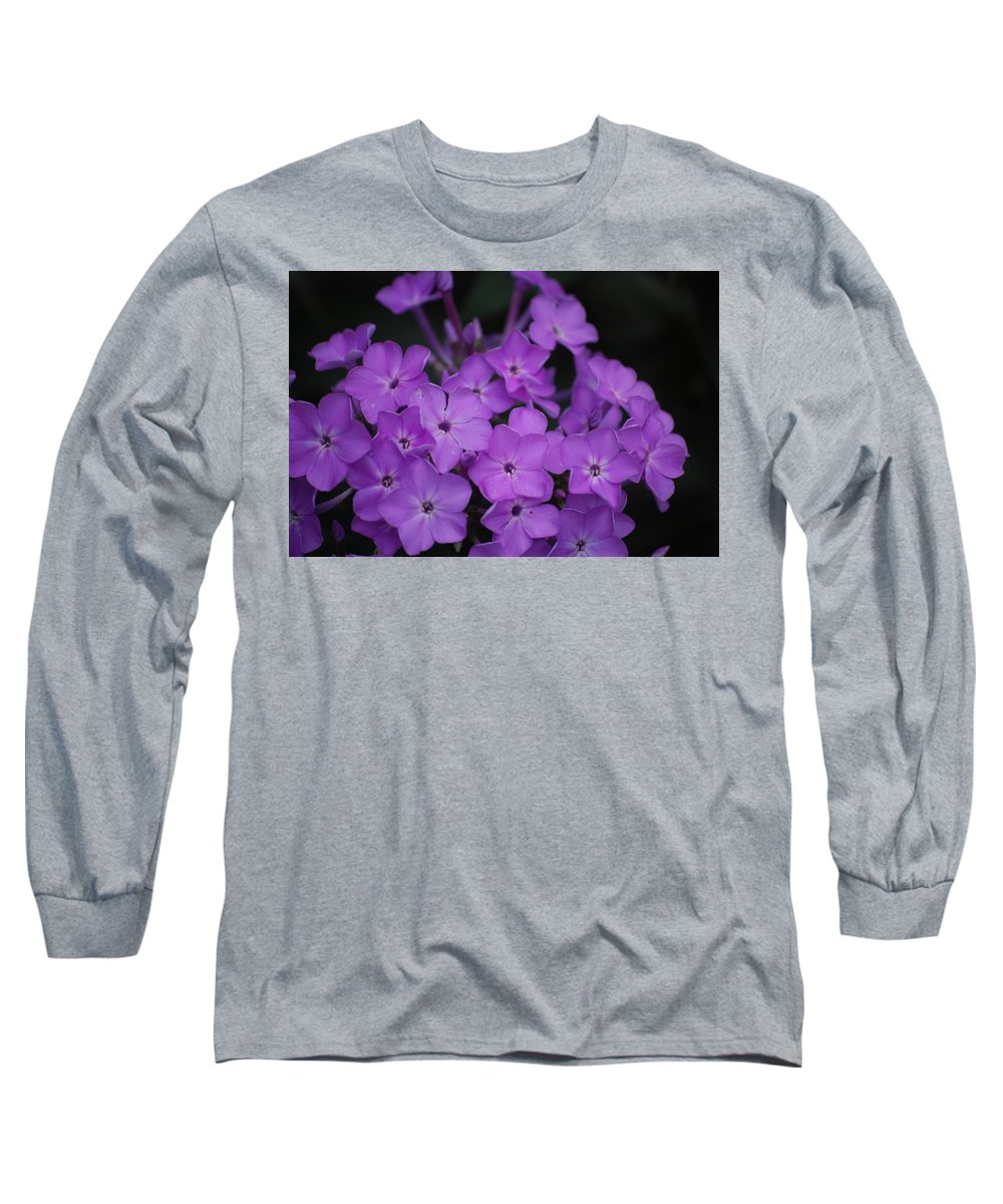 Digital Photo Long Sleeve T-Shirt featuring the photograph Purple Blossoms by David Lane